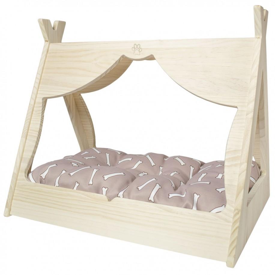 Cama para perros de madera Tipi